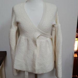 Moda international  cream cardigan large